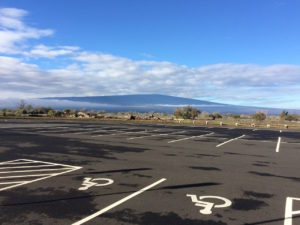 Parking lot at Mauna Kea rest stop on Saddle Road by Paul Normann