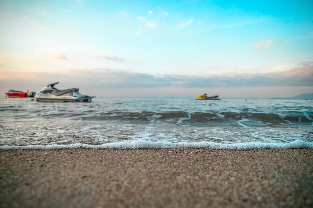 Jet Skis on beach by Donald Tong from stocksnap.io