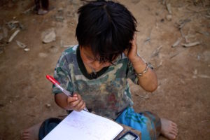 Boy writing by Tien Tran from stocksnap.io
