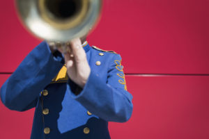 Trombone player in uniform by Ryan McGuire form stocksnap.io