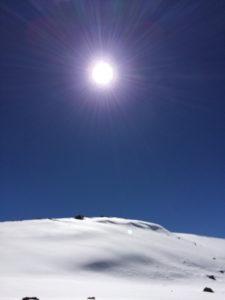 Blinding snow atop Mauna Kea by Judy K. Walker