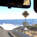 17% Road grade sign atop Mauna Kea by Judy K. Walker