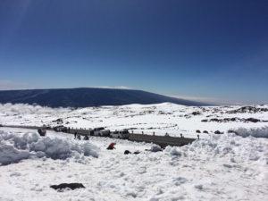 Mauna Kea snowy hike by Judy K. Walker
