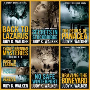 Collage of first five Sydney Brennan Book Covers (small)