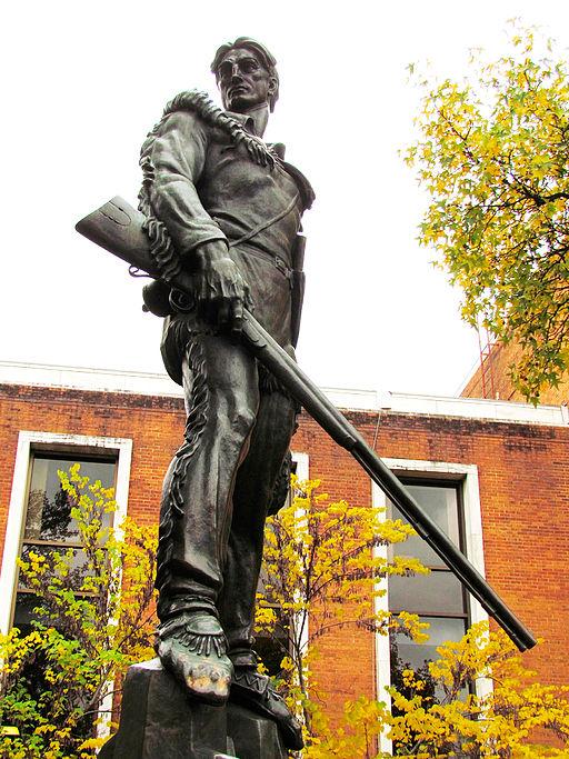 WVU Mountaineer statue by Donald De Lue via Wikimedia Commons