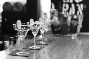 Empty margarita glasses on a bar by LeeRoy from stocksnap.io