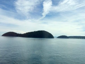Anacortes Ferry view of island by Judy K. Walker