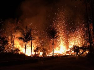Kilauea eastern rift eruption on May 5, 2018, by United States Geological Survey [Public domain], via Wikimedia Commons
