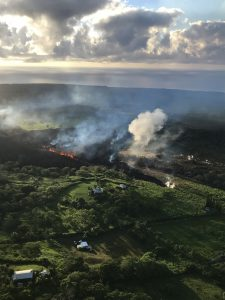 Hawaii Fissure 17 early on May 14, 2018, by USGS [public domain]