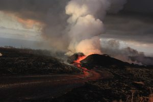 Kīlauea Volcano Fissure 8 on June 30, 2018, by USGS Hawaiian Volcano Observatory (HVO)
