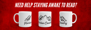 Mug inscribed Harlan Country, a reference to the Dead Hollow series by Judy K. Walker