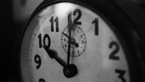 Clock face in black and white