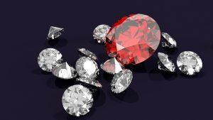 Gemstones on a black background