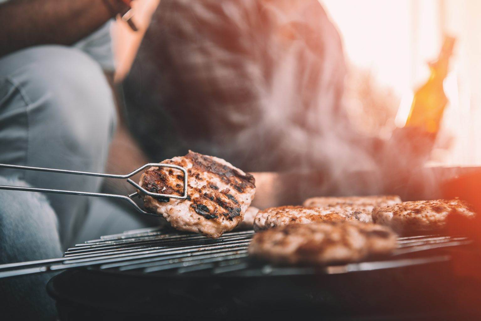 Meat Preparing on Grill