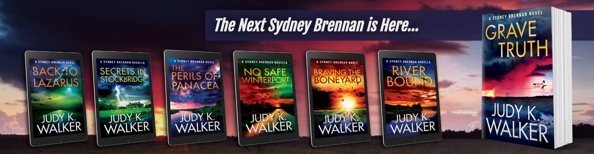 All Sydney Brennan covers with newest addition, Grave Truth